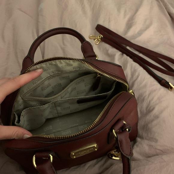 Michael Kors Handbags - Maroon Michael Kors Handbag with Shoulder Strap